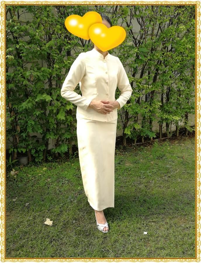 รูปภาพชุดไทยจิตรลดาสีครีม ทอง/เหลือง