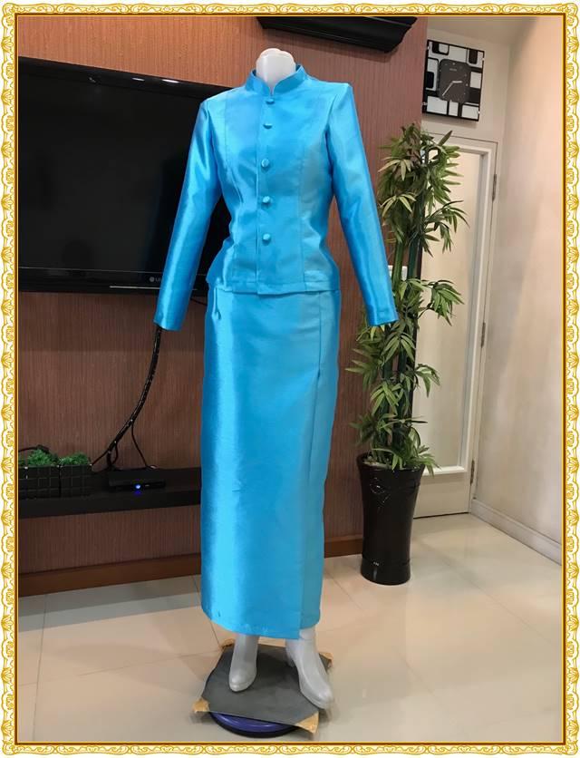 รูปภาพชุดไทยจิตรลดาสีฟ้าเข้ม