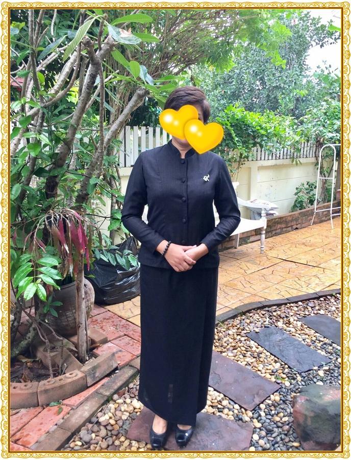 ชุดไทยจิตรลดาสีดำ