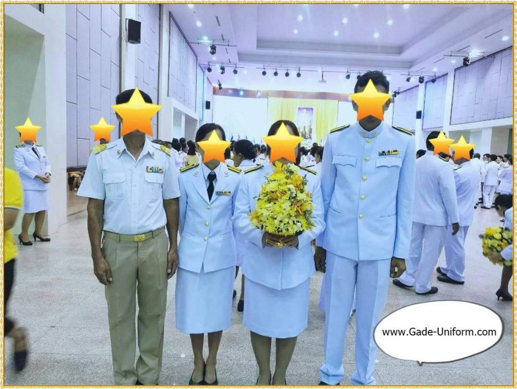 ชุดปกติขาว-ชุดพนักงานราชการสีกากี-ผู้ชาย-ผู้หญิง-4