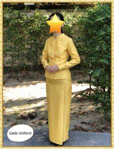 ชุดไทยจิตรลดาสีเหลือง สีทอง-1