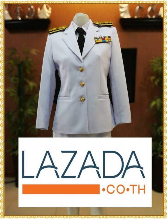 ลิ้ง Shopee กับ Lazada ชุดปกติขาว ของผู้ชาย-ผู้หญิง ชุดขาวใหญ่ ชุดขาวปกติของข้าราชการพลเรือน เก็บเงินปลายทาง