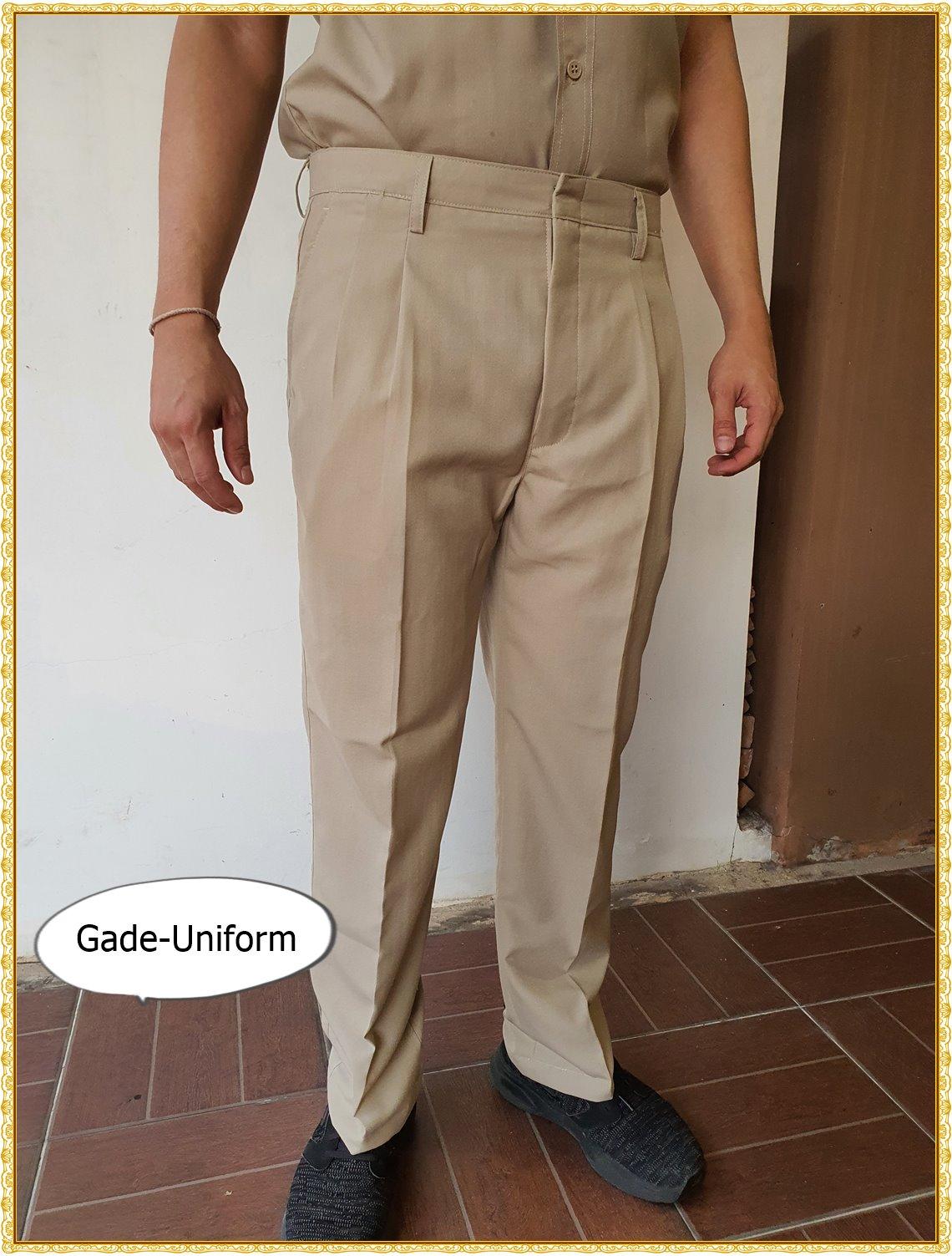 กางเกงสีกากี กางเกงข้าราชการ มีทุกไซส์