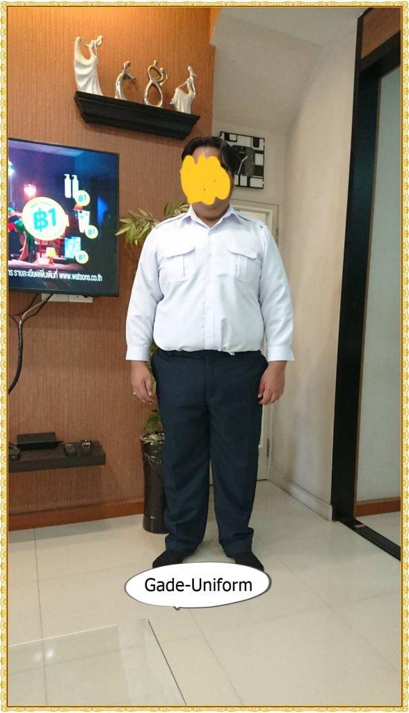 ชุดพนักงานราชการเสื้อขาว-การเกงสีกรมท่า-3
